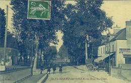 SAINT FLORENT SUR CHER RUE DU CHER 1914 CPA GLACEE TBE - Saint-Florent-sur-Cher