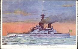CPA Brasilianisches Kriegsschiff, Marine Brésillienne, Dreadnought Minas Geraes - Non Classificati