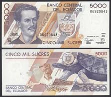 Ecuador 5000 5.000 Sucres 6.3.1999 Pick 128c  UNC (1)    (25449 - Andere - Amerika