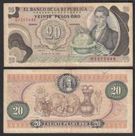 Kolumbien - Colombia 20 Pesos Oro 1974 Pick 409c F (4)    (27788 - Other - America