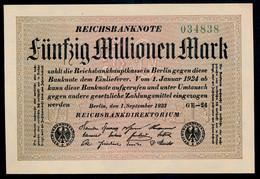 P109b Ro108e DEU-123h. 50 Million Mark 1923 UNC NEUF - 50 Millionen Mark