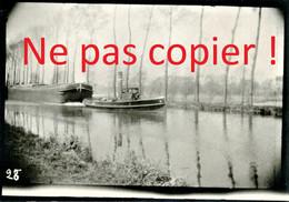PHOTO ALLEMANDE - REMORQUEUR TIRANT UNE PENICHE - GABARRE A HEM LENGLET PRES DE FECHAIN - BOUCHAIN NORD GUERRE 1914 1918 - 1914-18