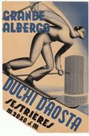 ETICHETTA LABEL ORIGINALE GRANDE ALBERGO HOTEL DUCHI D'AOSTA SESTRIERES (V. DESCRIZIONE - READ DESCRIPTION) - Non Classificati