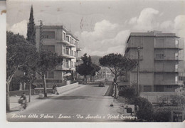 LOANO SAVONA  VIA AURELIA  E HOTEL EUROPA VG  1957 - Savona