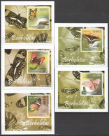 AA1121 IMPERFORATE 2010 S. TOME E PRINCIPE INSECTS BUTTERFLIES BORBOLETAS 5 LUX BL MNH - Schmetterlinge