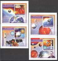 AA1125 IMPERFORATE 2007 GUINE-BISSAU SPACE SPUTNIC 4 LUX BL MNH - Sonstige