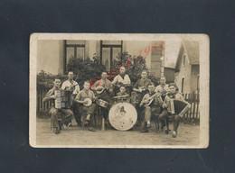 ALLEMAGNE MILITARIA CARTE PHOTO MILITAIRE DE 1942 ECRITE LIRE GROUPE DE SOLDATS MUSICIEN : - Guerre 1939-45