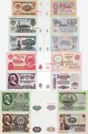 Russia USSR 1961 - Full Set 7 Pcs 1+3+5+10+25+50+100 Rubles - Pick 222-236 UNC - Russie