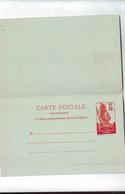308  ENT Entier Postal  GABON  CP Avec Sa Carte Réponse - Storia Postale