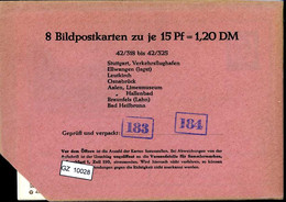 Bundesrepublik, P81, 42/318 - 42/325, Mi 12,00 - Cartoline - Nuovi