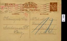 Frankreich, Postkarte Mit Zensurstempel, 1941 - Storia Postale