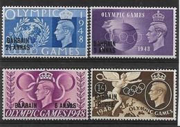 BAHRAIN 1948 OLYMPIC GAMES SET UNMOUNTED MINT Cat £6 - Bahrain (...-1965)