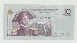 Banknote Bicentenaire De L'independance D'Haïti 10 Gourdes-goud 2016 UNC - Haiti