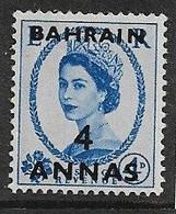 BAHRAIN 1956 4a On 4d SG 98 MOUNTED MINT Cat £5.50 - Bahrain (...-1965)