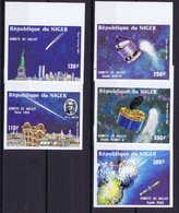 Niger Space 1985 Halley's Comet  Nice Set Imperf - Niger (1960-...)