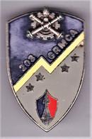 203° GRMCA. 203° Groupement De Réparation Du Matériel De Corps D'Armée. Gris-bleu. D.2654. Petit éclat D'émail à 14 H. - Army