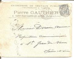 Saint Pantaléon Les Autun (Saône Et Loire). Boite Rurale D'Autun K Localisée. - 1849-1876: Periodo Classico