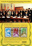 CCCP (Sowjetunion) Vertrag über Die Abschiessende Regelung In Bezug Auf Deutschland 12. September1990  Gedenkblatt - Cinderellas