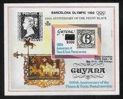 Olympic Games 1992 , Guyana  - Blok  Postfris - Verano 1992: Barcelona