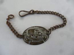 (Militaria - Plaque D'Identité ???) -  Bracelet Avec Plaquette Représentant Un Camion .......(voir Scans !!) - Other