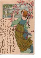 """Femme """"art Nouveau"""". Meissner & Buch.  Leipzig. Série 1149 ?   Voir SCANS Recto-verso - 1900-1949"""
