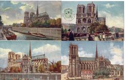 """Illustrateur TUCK Raphael - LOT 7 CPA - PARIS - NOTRE-DAME - """"Oilette"""" - Tuck, Raphael"""