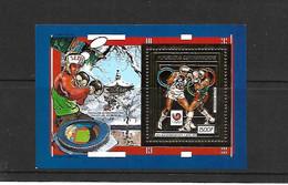 REPUB CENTRAFRICAINE 1989    BF OR YT 96 AA XX JO D'ETE A SEOUL   LA BOXE    (LE BLOC 1500 F Sur Or,) - Central African Republic