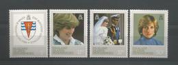S. Georgia 1982 Princess Diana 21st Birthday Y.T. 111/114 ** - Südgeorgien