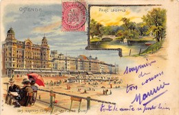 Ostende - Carte Style Litho - Oostende
