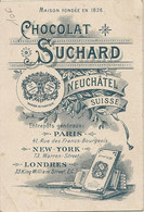 SUCHARD CHOCOLAT PUBLICITE NEUCHATEL SUISSE Entrepôts Paris  New York Londres - Advertising