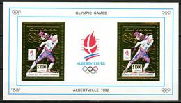Olympic Games 1992 , Guyana  - Blok ( Goud ) Postfris - Hiver 1992: Albertville