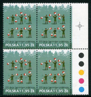 POLAND 2010 Polish Scouts Centenary Block Of 4 MNH / **.  Michel 4490 - Unused Stamps
