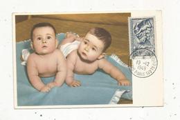 Carte Maximum , SALON DE L'ENFANCE , Grand Palais, PARIS , 19-12-1949 ,enfants ,bébés , Vierge , Ed. Superluxe - 1940-49