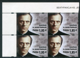 POLAND 2010 Beatification Of Popieluszko Block Of 4 MNH / **.  Michel 4486 - Unused Stamps