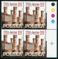 POLAND 2010 750th Anniversary Of Tczew Block Of 4 MNH / **.  Michel 4485 - Unused Stamps