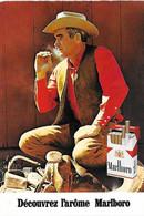 Carte Postale - Publicité - MARLBORO - Tabac Cigarette Fumeur Paquet Arôme - Cow Boy - - Publicité