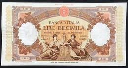 10000 Lire Floreale Regine Del Mare 07 02 1953 Pressato E Scritta Cancellata  LOTTO 1713 - 10000 Lire