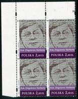 POLAND 2008 Zbigniew Herbert Block Of 4  MNH / **.  Michel 4404 - Unused Stamps