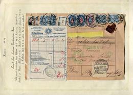 59661 Russia Ukraine Odessa Cancel 1914 Parcel Card To Samedan Switzerland Suisse Pmk - Covers & Documents