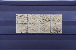 FRANCE - Bloc De 8 Exemplaires Du Napoléon 10ct Avec Oblitération Losange GC 2659 - L 103958 - 1863-1870 Napoleon III With Laurels
