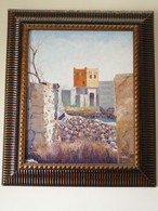 Peice Of Art Signed By Artist Showing Historical Castel. Original Art - Acrilici