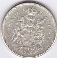 Canada 50 C Argent 1959 - Other - America
