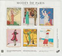 France Feuillet De 6 Vignettes Modes De Paris - Otros
