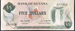 Guyana 5 Dollars, P-22e (1989) - UNC - Guyana