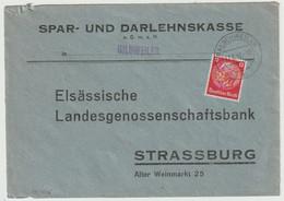 Sk1515 - BALSCHWEILER - 1942 - Hindenburg NON Surchargé Elsass - BALSCHWILLER - - Alsace Lorraine