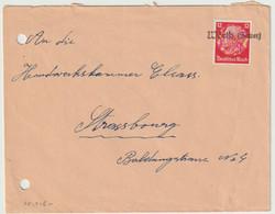 Sk1516 - WÖRTH Sauer - 1940 - Provisoire Caoutchouc Hindenburg NON Surchargé Elsass - Gummistempel - - Alsace Lorraine