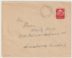 SK1518 - WATTWILLER Haut Rhin - SANS DATE - Cachet FRANCAIS Sur Timbre ALLEMAND Hindenburg NON Surchargé Elsass - - Alsace Lorraine