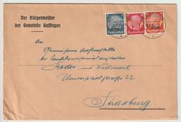 Sk1526 - HEIMSBRUNN - 1941 - MIXTE 2 Emissions - Hindenburg Non Surchargé ET Surchargé Elsass - Double Port 24 Pfg - - Alsace Lorraine