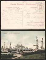 "Bataillon Allemand - Feldpostkarte (Bredene 1914, Vue Ostende) + Cachet Avec Aigle ""Leichte Mun.Kol. D.I. Landw.Feldart - Armada Alemana"
