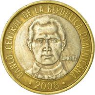 Monnaie, Dominican Republic, 5 Pesos, 2008, TTB, Bi-Metallic, KM:89 - Dominicana